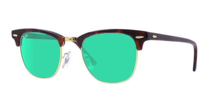 Ray-Ban-3016-Clubmaster-Sunglasses-Tortoise-Gold-Green-Mirror